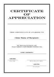 Free Appreciation Certificates Free Printable Certificates Of Appreciation