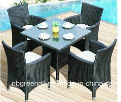 4 person patio table chair rattan
