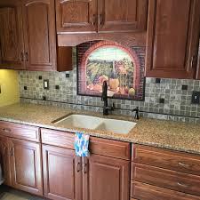 Kitchen Tile Backsplash Murals Decorative Tile Backsplash Kitchen Tile Ideas Tuscan Wine Ii