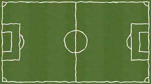 grass soccer field. Soccer Field Forming On Grass In Cartoon Style Grass Soccer Field