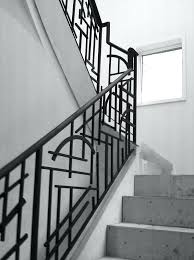 stair rail construction wrought iron railing artistic stairs modern interior