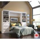 Bestar Evolution White Double Wall Bed