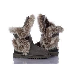 ugg short fox fur 8288 grey boots