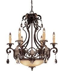 savoy house chinquapin 6 light chandelier in moroccan bronze 1 7180 6 241