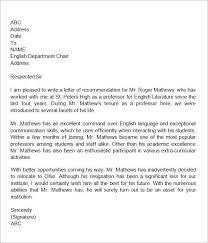 Writing Letter Recommendation Teacher Colleague Milviamaglione Com