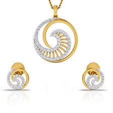 pour diamonds diamond gold pendant set cjsps0374 y
