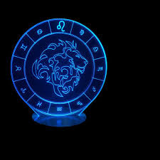 Constellation Chart Us 13 88 40 Off 7 Color Changing 3d Usb Visual Leo Shape Constellation Chart Lighting Table Lamp Led Atmosphere Decor Touch Nightlight Kid Gifts In