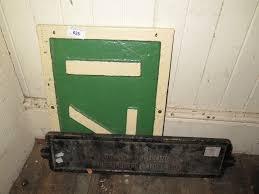 l m s cast iron train lighting distribution fuse box sign and lot 625 l m s cast iron