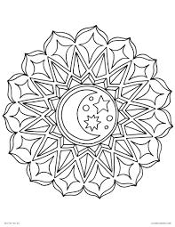 Coloring Pages Ideas Lmj Coloring Page Moon Mandala Free Printable