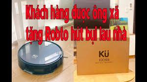 Được ông xã tặng Robot hút bụi lau nhà của Đức | Robot hút bụi Kuchen  Ku6612