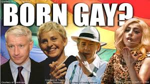 People are born gay