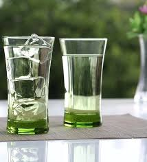 lime green ml set of 6 glasses everyday glassware sets glass