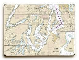 Wa Puget Sound Southern Part Wa Nautical Chart Sign