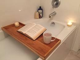 bathroom decor beautiful plan for clawfoot tub tray bathroom teak bathtub caddy modern inspirations including