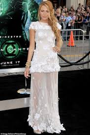 chanel dress. while promoting her 2011 film green lantern, in which she stared alongside now husband chanel dress