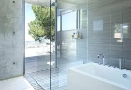 modern shower design and bath in bathroom designs without doors