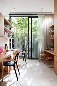 open space home office. Light And Airy, This Home Office Has Easy Access To Outside Via The Patio Door Ample Room For Multiple People Work. Wood Is Used On Either Side Of Open Space F