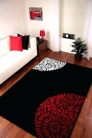 red living room rug red