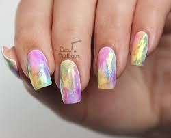 Rainbow Opal Nails TUTORIAL - The Shattered Glass Technique ...