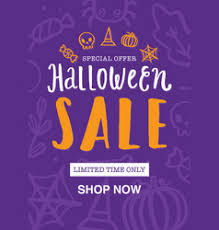 halloween sale flyer halloween sale template royalty free vector image