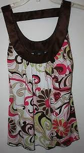 Iz Byer California Dress Size Chart Iz Byer California Womens Size S Floral Sleeveless Knit Top