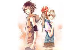 Cute Cartoon Boy And Girl Wallpaper