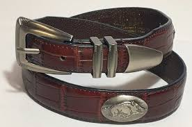arkansas razorback brown crock leather concho belt the stadium pe on razorback
