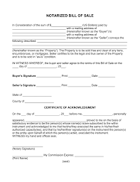 example of bill of sale free notarized bill of sale form pdf word eforms free