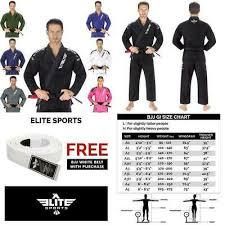 Elite Sports Size Chart Storm Kimonos F Lite 2 Jacket Gi White A4 Nwt Bjj Jiu Jitsu