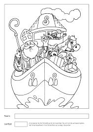 Kleurplaat Sint 2018 Het Strandhuis Wijk Aan Zee