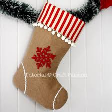 sew christmas stocking. Fine Christmas Embellished Burlap Christmas Stocking With Sew Christmas Stocking