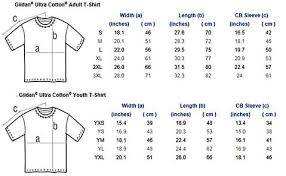 Gildan Youth Size Chart 46 Correct Gildan Sizes Youth Chart