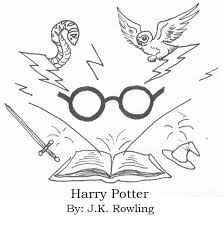 harry potter book drawing