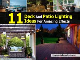 patio deck lighting ideas. 11 Deck And Patio Lighting Ideas For Amazing Effects