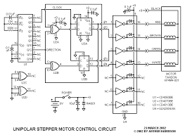 5 wire unipolar stepper motor circuit diagram images motor bio this 4 wire stepper motor driver circuit diagram