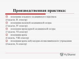 Презентация на тему Методическое обеспечение практики учебной и  4 Производственная практика помощник младшего