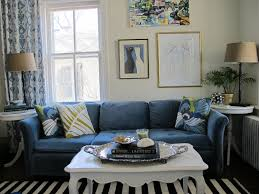 living room astounding dark blue bridgewater couch and white wooden coffee plus living room amusing