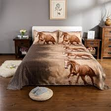 home textile 3d horse bedding set animal print twin queen king duvet cover soft bedclothes bed sheet pillowcase bed set d30 comforter king blue duvet sets