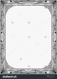 white certificate frame simple black white certificate frame border stock image