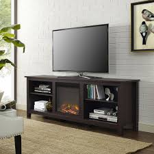 walker edison wood tv stand with fireplace for tvs up to 70 walker edison wood tv stand with fireplace for tvs up to 70 multiple finishes