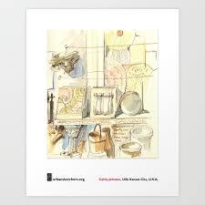 "Cathy Johnson, ""Architectural Salvage"" Art Print by urbansketchers |  Society6"