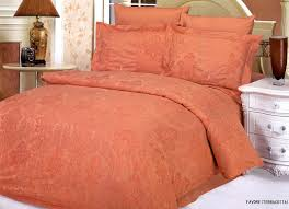 terracotta favore 6 piece full queen bedding jacquard