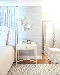 white leaning floor mirror. White Leaning Floor Mirror Gray Bedroom With Blue Drapes Behind Bed Regard To