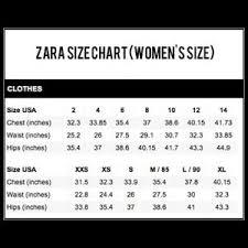 Zara Jeans Size Guide Boys Conversion Chart Sizes Misses Vs