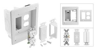gang recessed wide low voltage combo box kit 2 gang recessed 5 wide low voltage combo box kit view