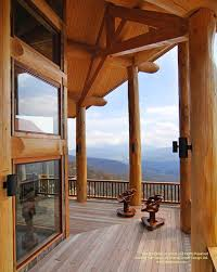 Post And Beam Deck Design Round Log Post And Beam Deck On A Home In North Carolina