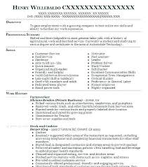 Sample Resume For Landscaping Laborer