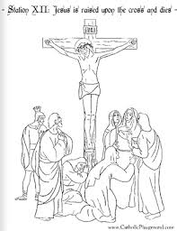 Stations Of The Cross Coloring Pages Pdf Color Bros