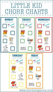 Free Printable Chore Chart For 4 Year Old Little Kid Chore Charts Ages 2 4 Over The Big Moon