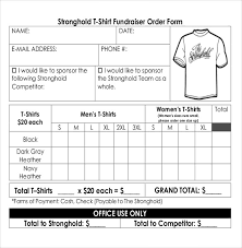 Sample Of Order Form Template 16 Fundraiser Order Templates Free Sample Example Format